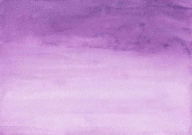 Trama di sfondo sfumato viola e bianco dell'acquerello. sfondo di pennellate viola aquarelle. modello orizzontale.