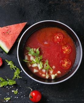 Gazpacho di anguria e pomodoro