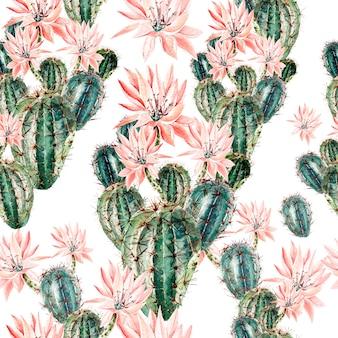 Modello waterñ olor con cactus. illustrazione