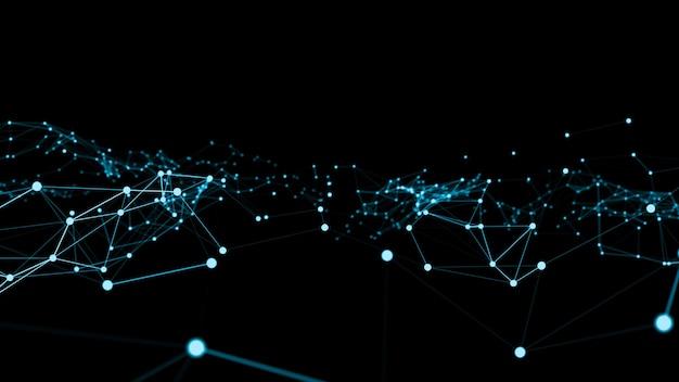 Ondata di rete di collegamento punti di creazione innovativa
