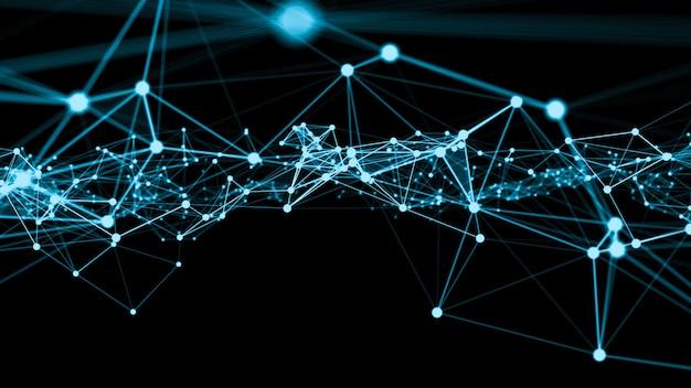Ondata di rete di collegamento puntini di creazione innovativa