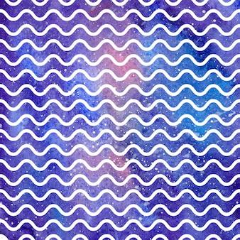 Motivo a onde sulla trama dello spazio, sfondo astratto. illustrazione geometrica semplice