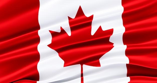 Sventolando la bandiera del tessuto del canada