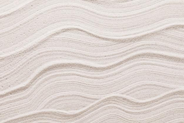 Texture ondulata di sabbia chiara