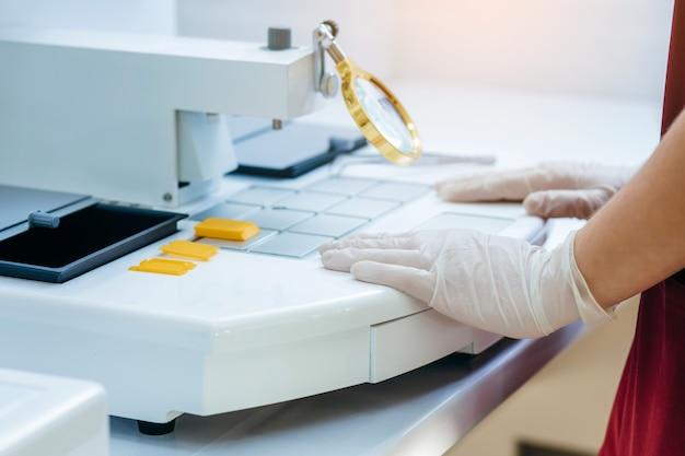 Ceretta campioni in laboratorio