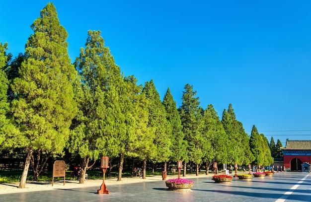 Modo per l'altare circolare del tumulo al tempio del cielo a pechino. sito del patrimonio mondiale dell'unesco in cina