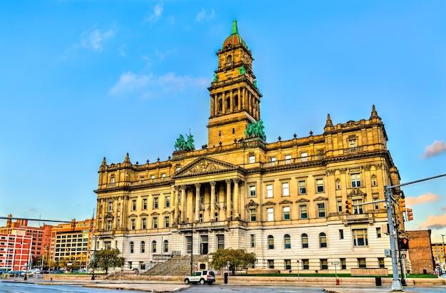 Wayne county courthouse, una monumentale struttura governativa nel centro di detroit, stati uniti