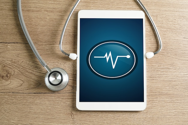 We care health vulnerability check his laptop and medical data breach checking security on smartphone