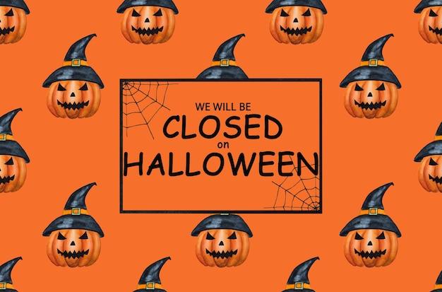 Saremo chiusi per halloween. felice halloween