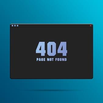 Finestra del browser web con errore 404