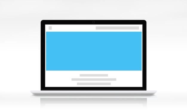 Concetto di spazio di copia del modello di web design