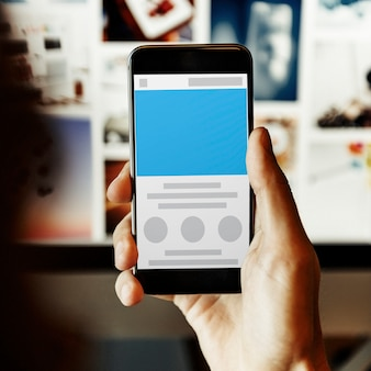 Concetto dello spazio della copia del modello di web design