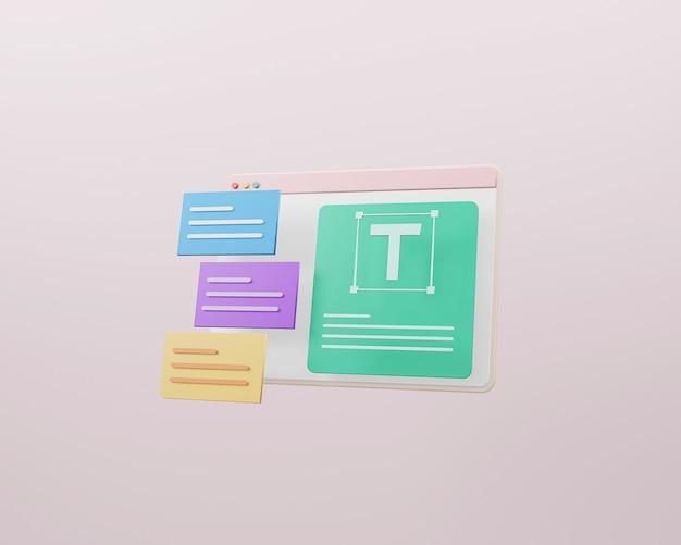 Web design e concetto di sviluppo web