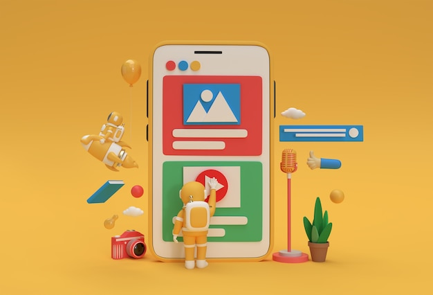 Banner di sviluppo web, materiale di marketing, presentazione, pubblicità online.