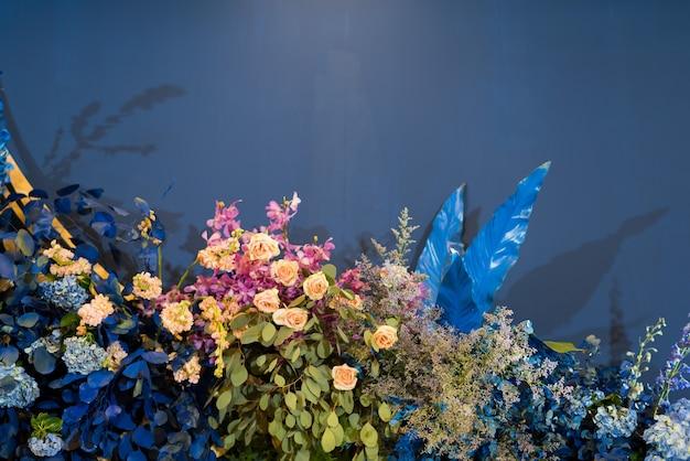 Sfondo di nozze, decorazioni floreali