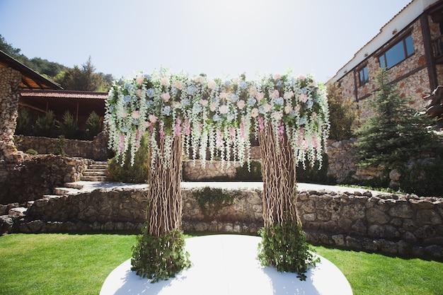 Decorazione per la cerimonia del matrimonio