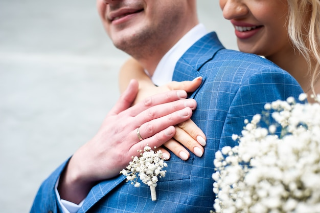 Giorno delle nozze la sposa e lo sposo