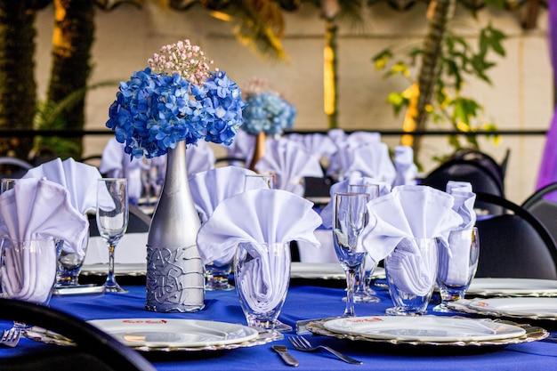 Matrimonio - tavola decorata in occasione di un evento di lusso
