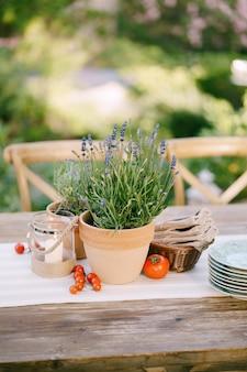 Ricevimento al tavolo da pranzo di nozze al tramonto