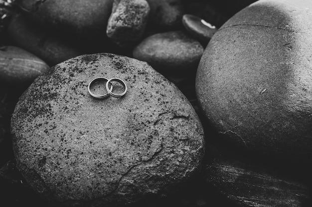 Anelli di fidanzamento in argento dorato di nozze