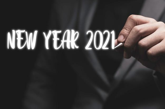 Benvenuto buon natale e felice anno nuovo nel 2021.