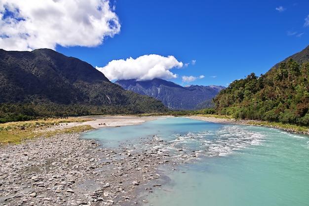 Costa occidentale dell'isola del sud in nuova zelanda