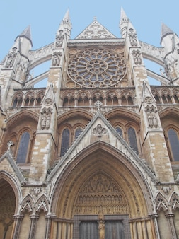 La chiesa dell'abbazia di westminster a londra uk