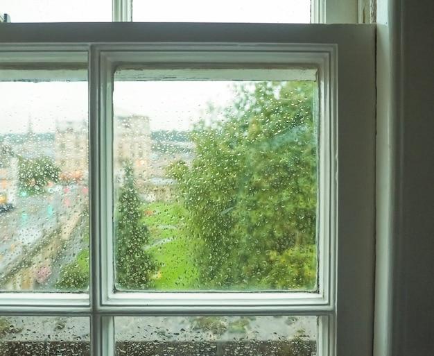 Vetro della finestra bagnato