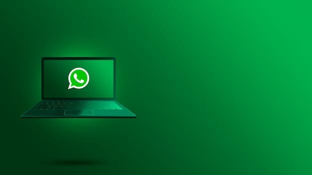 Logo whatsapp sullo schermo del laptop