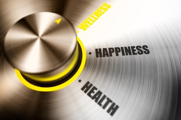 La ruota di un selettore scommette sul benessere