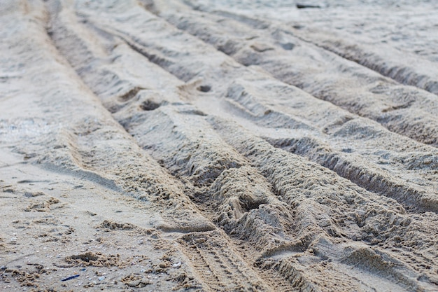 Pista ruota sulla spiaggia.