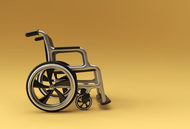 Sedia a rotelle isolata. illustrazione della rappresentazione 3d.