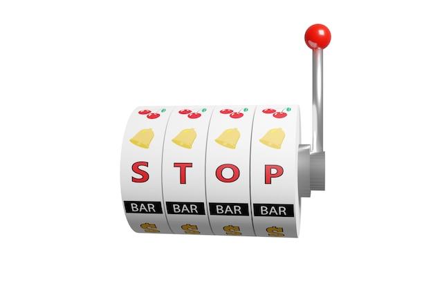 Ruote di una slot machine con la parola