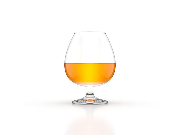 Whisky glass scotch bourbon creative isolati su sfondo bianco