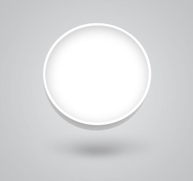 Palla bianca su sfondo chiaro
