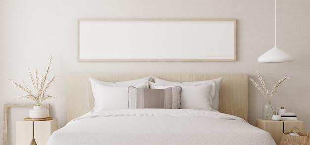 Interno camera da letto bianca.