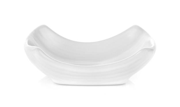 Ciotola bianca su bianco