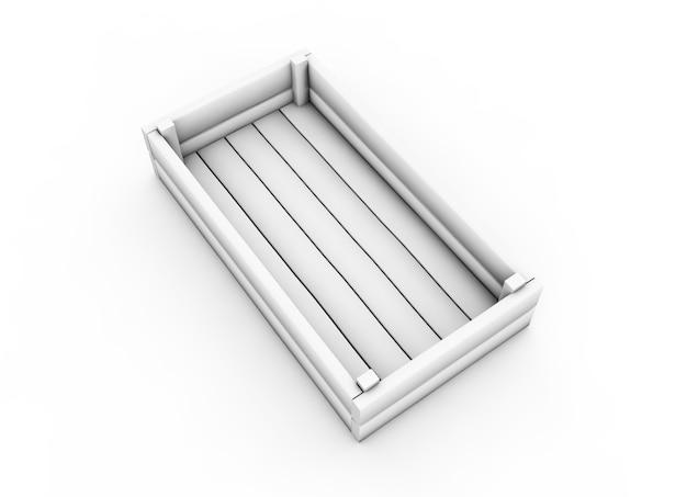 Scatola bianca. illustrazione 3d ad alta risoluzione con tracciati di ritaglio