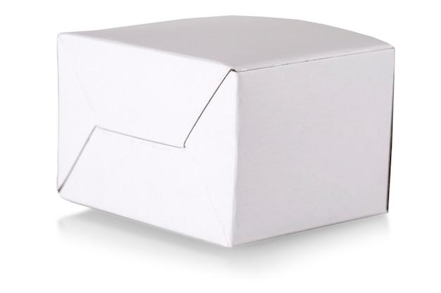 Casella bianca su sfondo bianco con tracciato di ritaglio