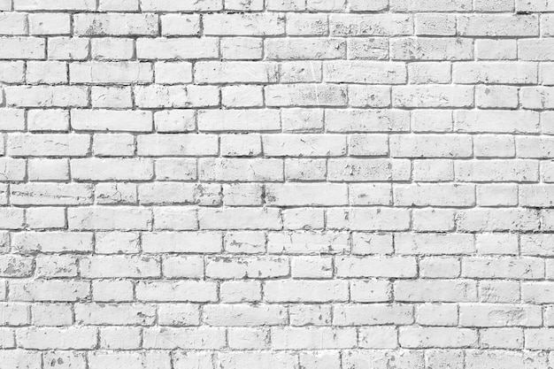 Muro di mattoni bianchi nella stanza rurale