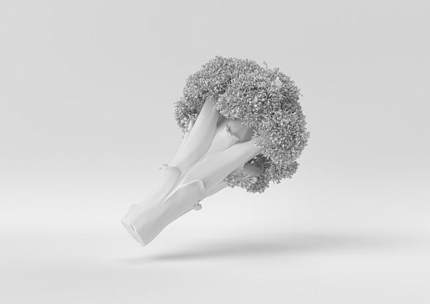 Broccoli bianchi. 3d rendono, illustrazione 3d.