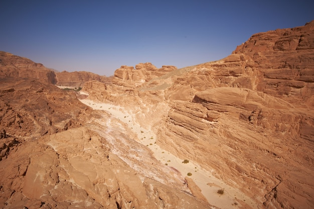 Canyon bianco nel deserto del sinai