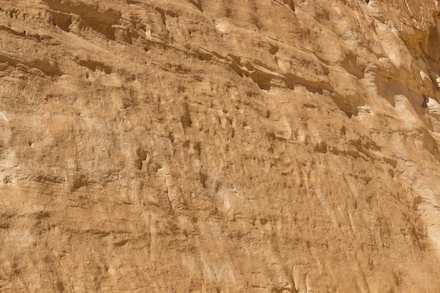 Canyon bianco con rocce gialle. egitto, deserto, la penisola del sinai, dahab.