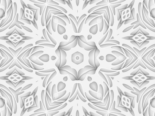 Copertina del libro del fondo del taglio della carta intagliata bianca. strato di linee curve e onde. illustrazione del modello del modello del manifesto di rendering 3d