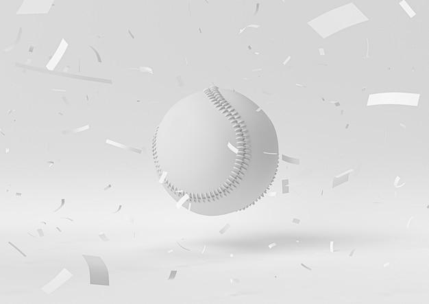 Campione di baseball bianco. 3d rendono, illustrazione 3d.