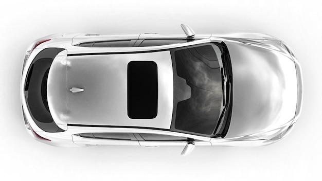 City car bianca con superficie vuota per il tuo design creativo. rendering 3d.
