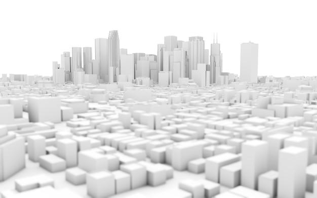 Skyline della città bianca