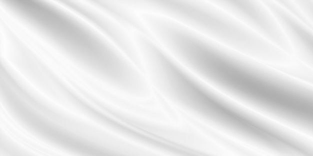 Illustrazione 3d di sfondo di panno bianco
