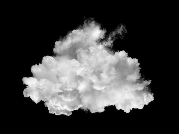 Fumo bianco della nuvola sul nero