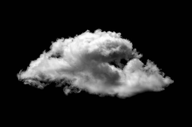 Nuvole bianche su sfondo nero